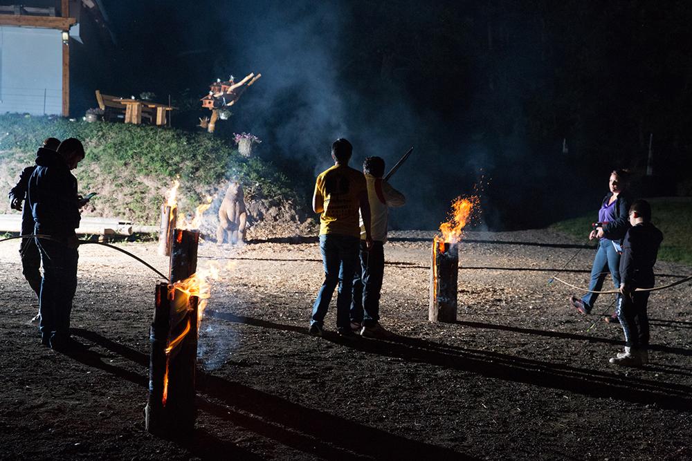 Bogenschießen im Naturpark Steigerwald - Nachtaktion